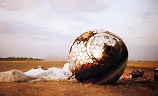 La capsula di Gagarin, Vostok 1, atterrata.
