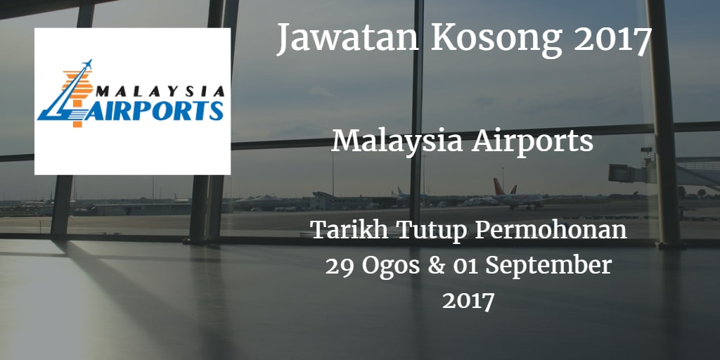 Jawatan Kosong MAHB 29 Ogos & 01 September 2017