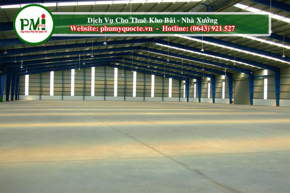 Phú Mỹ Quốc Tế Chuyên cho nhà xưởng, kho bãi -theo nhu cầu của khách hàng
