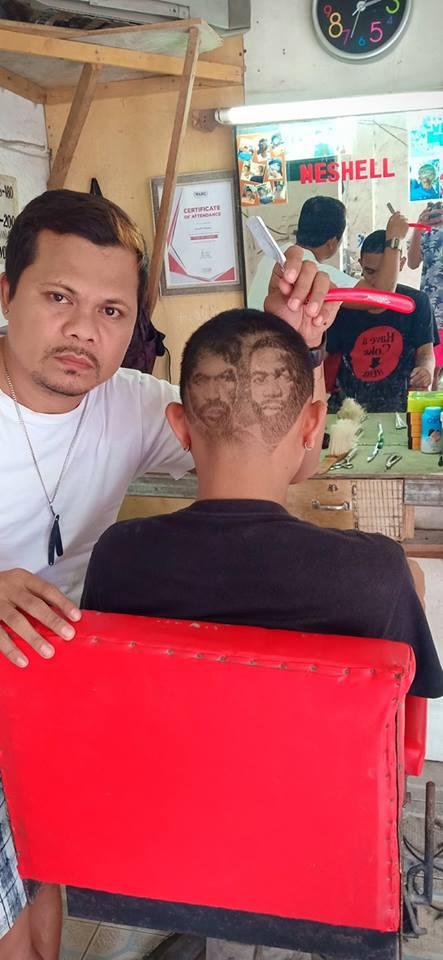 "Neshell Dacalos ""Pacquiao vs. Broner"" poster hair"