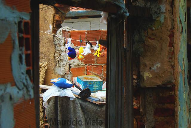 Fofura em meio ao caos: nem mesmo a distopia da miséria acaba com a ternura infantil (crédito: Maurício Melo)