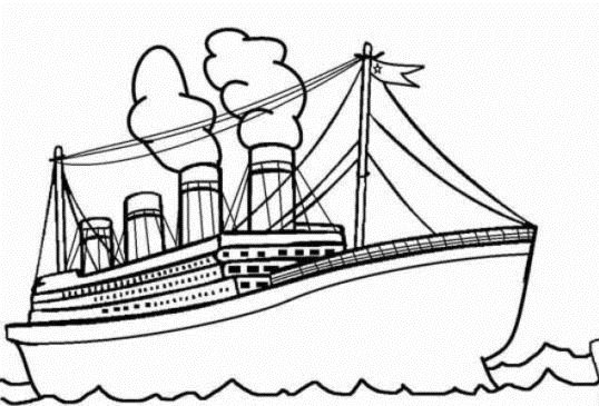 Kapal Laut Hitam Putih