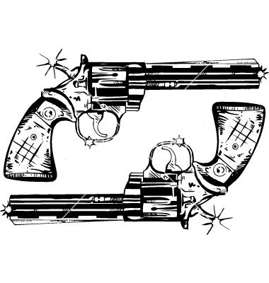 Colorir E Pintar Desenhos De Armas De Fogo