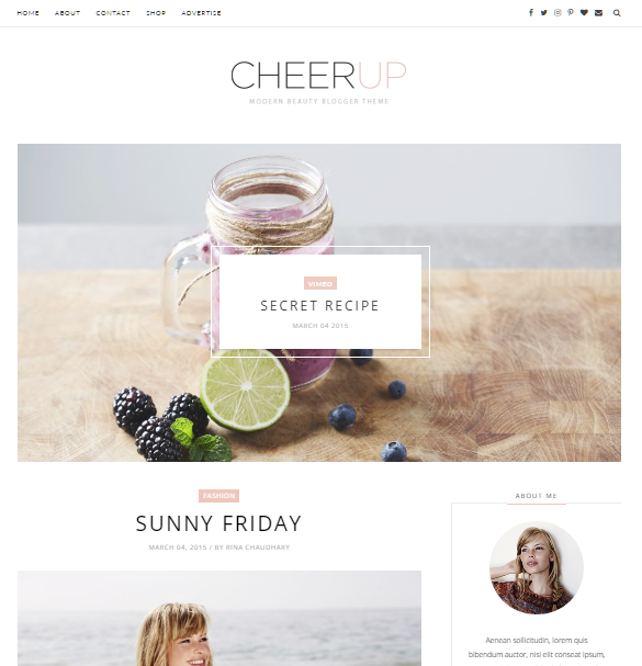 Cheer up slider free blogger template free google blog for Free blogger templates with slider