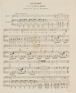 Partition - Guitare - Texte de Victor Hugo, musique de Pauline Duchambge.