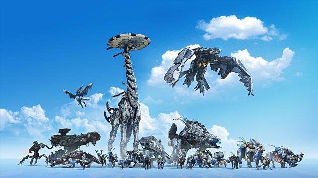 Horizon Zero Dawn Machines PS4 - Fond d'écran en Full HD