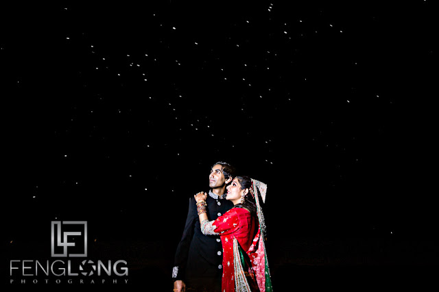 sky full of stars for pre-wedding photos