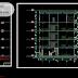 مخطط مشروع مسكن في المساحات الضيقة اوتوكاد dwg