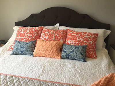 #millsnewhouse, master bedroom, pillows, bed design, crochet