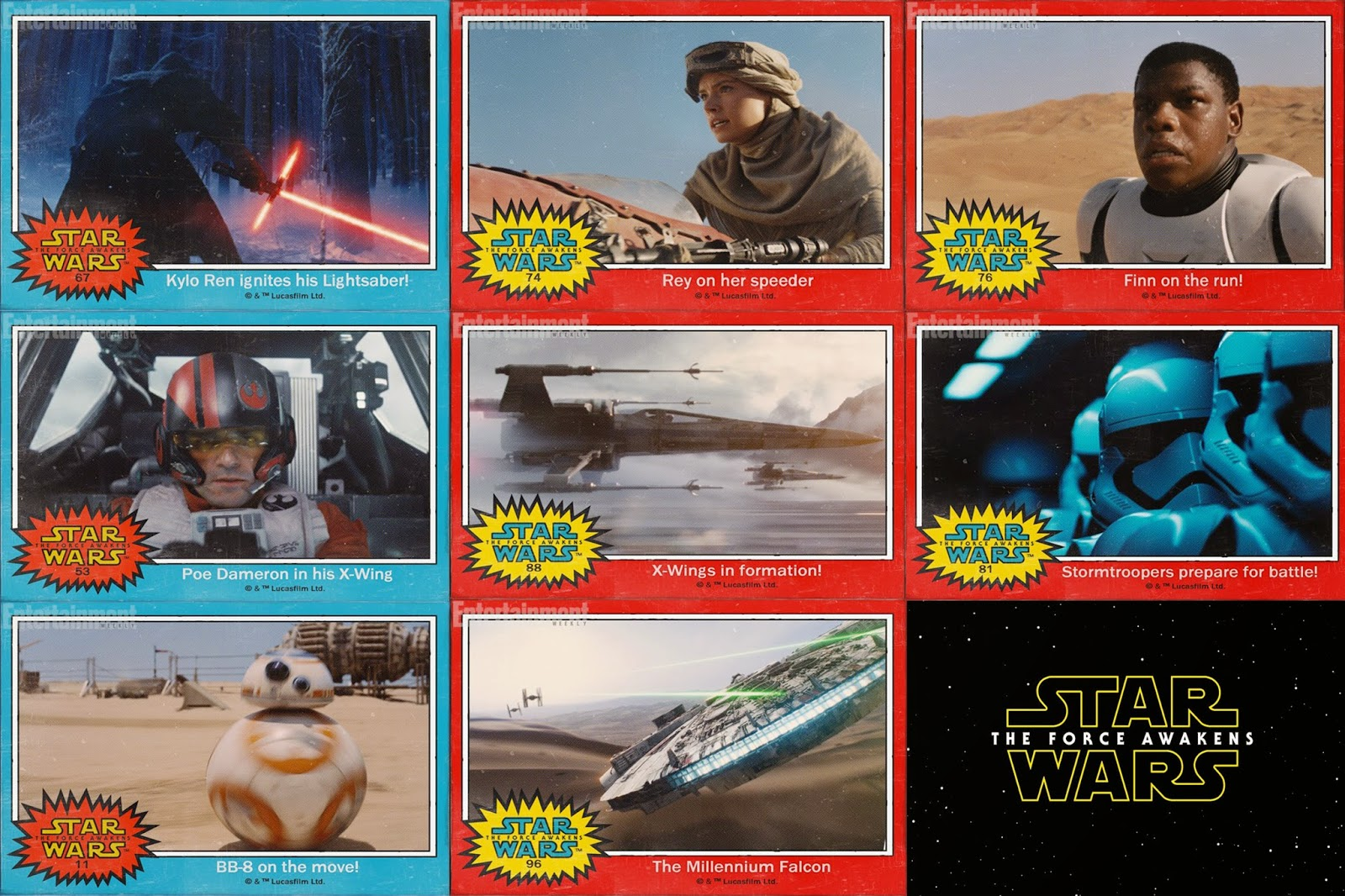 the force awakens topps uncut