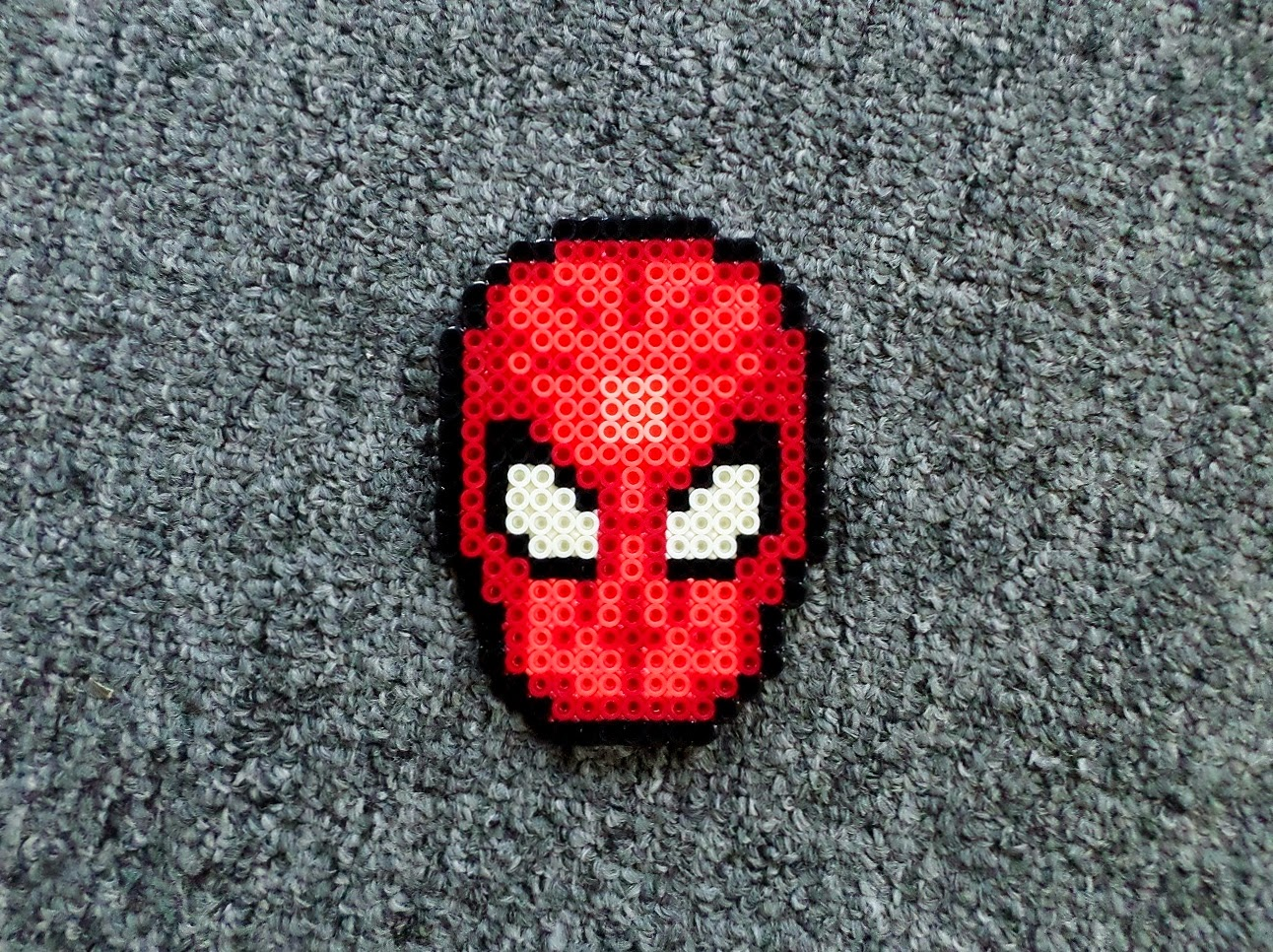 Hama Beads Spiderman: Long Black Fingers : More Perler Bead Heads