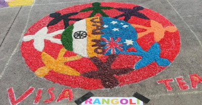 Happy Independence Day rangoli designs with dots 2016