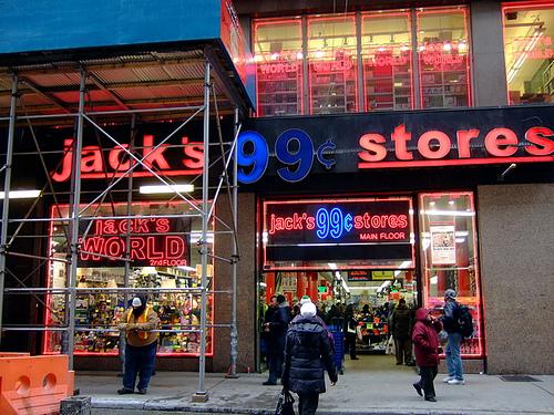 Loja de 99 cents Jack's World em Nova York