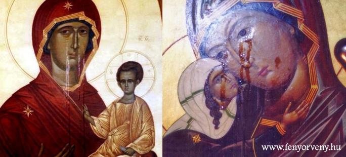 Könnyezni kezdtek az ikonok Ukrajnában és Oroszországban