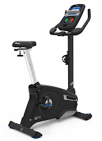 Nautilus U616 Upright Exercise Bike MY18 2018, with 29 programs, 25 ECB resistance levels, Dual Track blue backlit LCD console