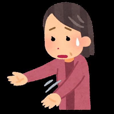 腕の麻痺のイラスト(FAST)