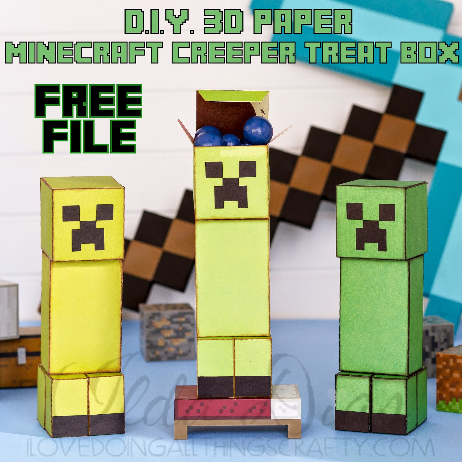 Minecraft Paper Craft Treat Box