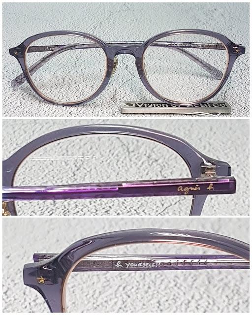 agnes b AB40030 梨形鈦金屬中金眼鏡