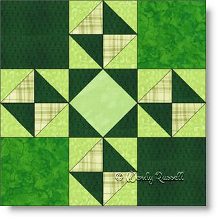 Danny Boy quilt block image © Wendy Russell