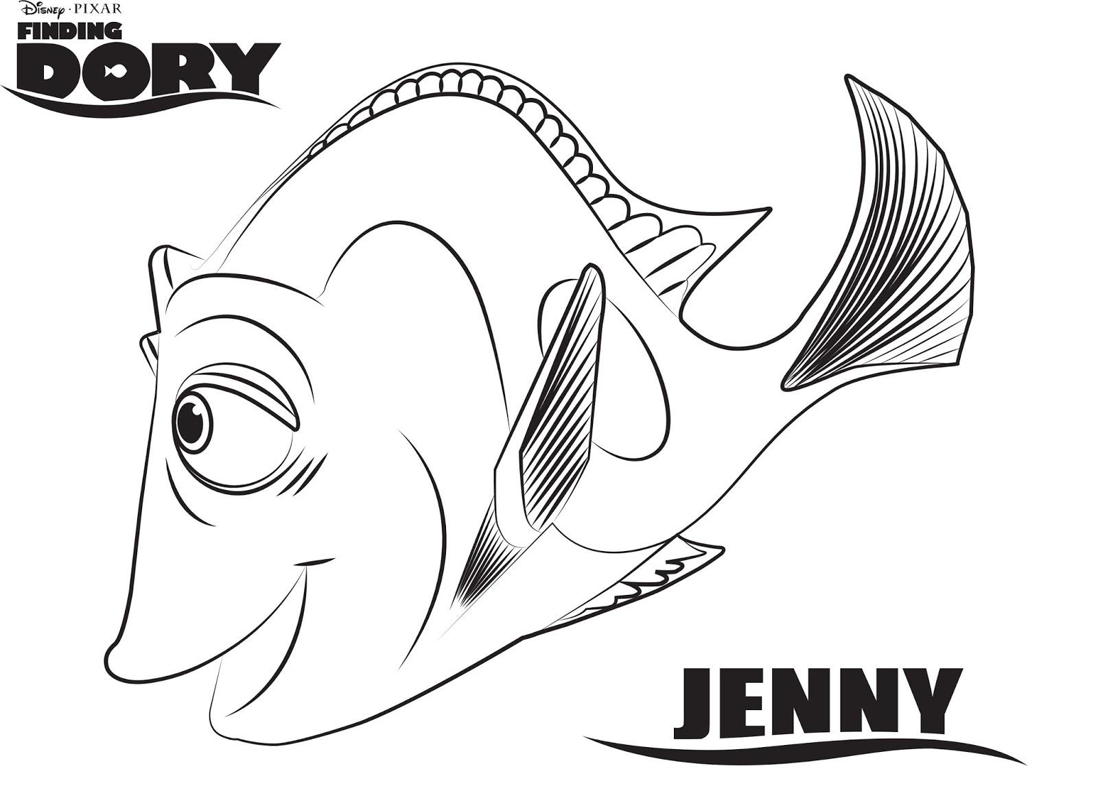 Sus Dibujos Favoritos De Disney Y Píxar Ahora Se Pueden Pintar: Colorea A Jenny, La Mamá En La Película Buscando A Dory