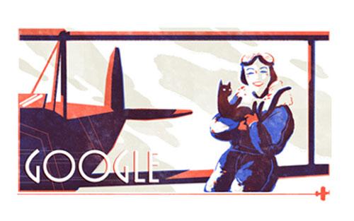 Jean Batten Google Doodle memperingati hari Lahirnya ke-107
