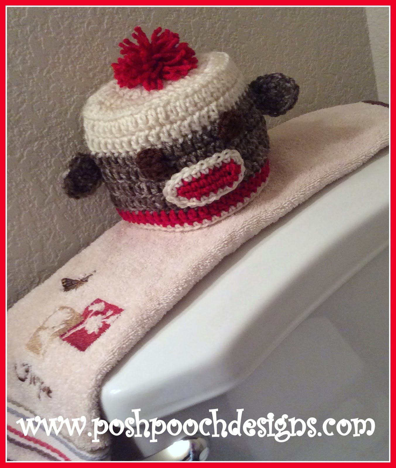 Posh Pooch Designs Dog Clothes: Sock Monkey Toilet Paper Cover ...