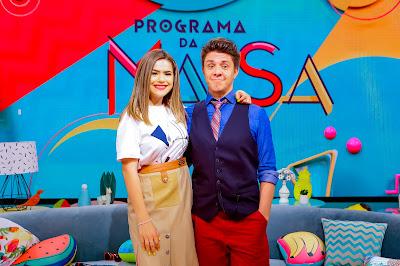 Maisa e Oscar Filho - Foto: Gabriel Cardoso/SBT