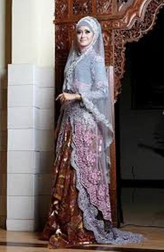 Model Baju Gamis Kebaya Untuk Pesta Pernikahan Elegan