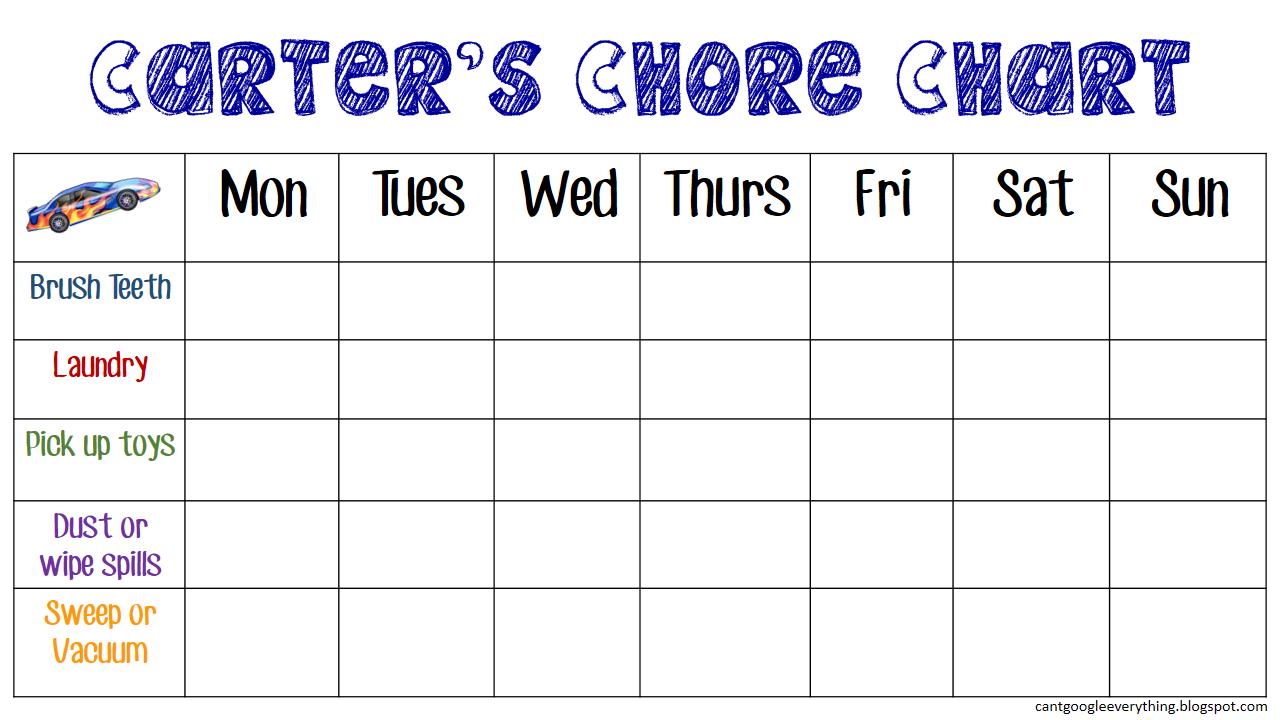 Toddler Chore Chart! - My Mini Adventurer