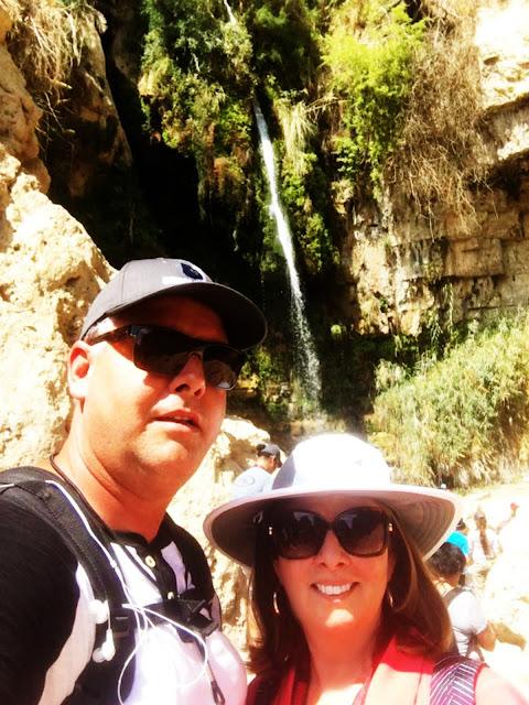 Eric and Debbie Hiking at En Gedi Israel