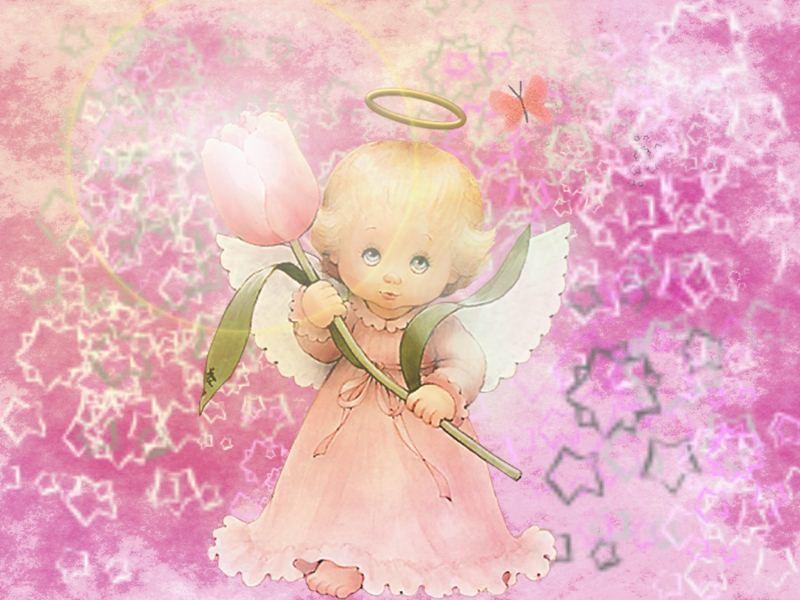 Fondo Primavera álbum Classic Flor Y Estrellas: Imagen De Angelitas Com Movimientos