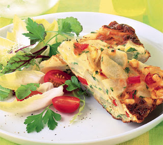 Potato, Corn and Pepper Frittata Recipe