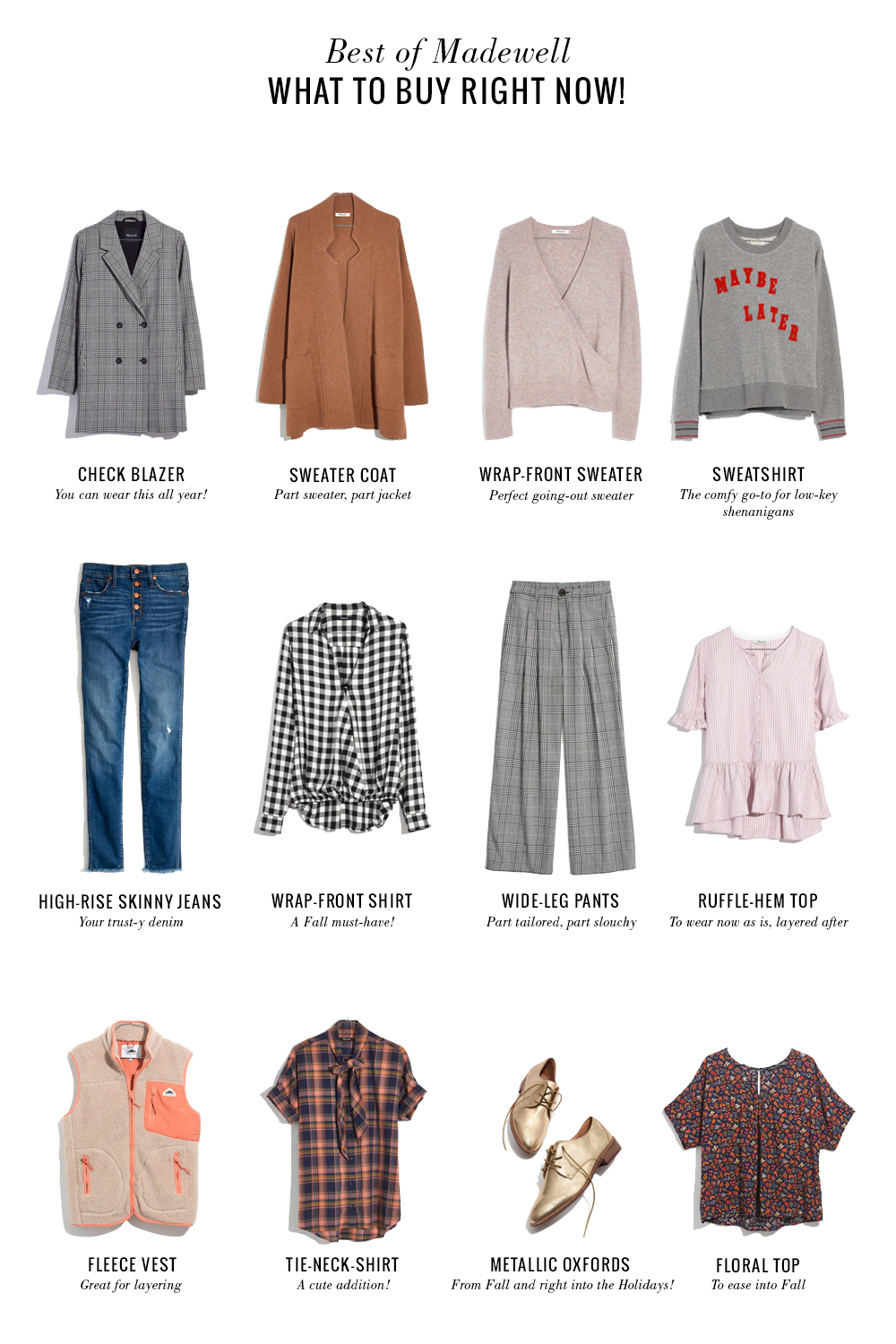 Shopping File 12 Pieces To Buy Right Now From Madewell The Vault