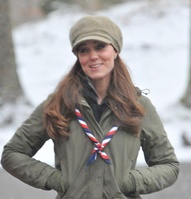 The Duchess of Cambridge is joining Scouts from the north west to try out tree climbing, outdoor cooking and fire lighting