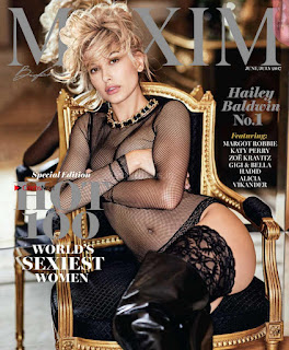 Hailey Baldwin Goes ty for Maxim US May 2017