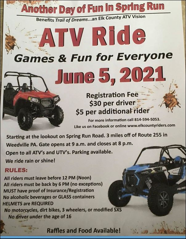 6-5 ATV Ride, Weedville, PA
