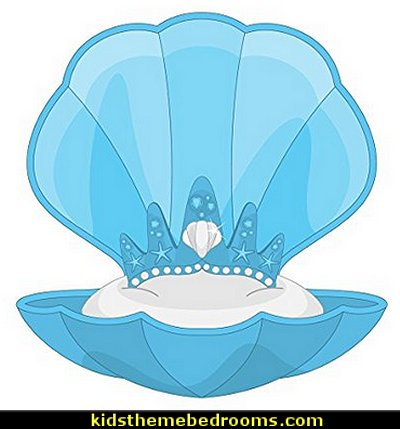 Mermaid Tiara Peel and Stick Wall Decals