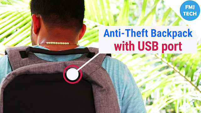 Anti Theft Backpack With USB Charging Port by Suntop Techbob | Amazon.in