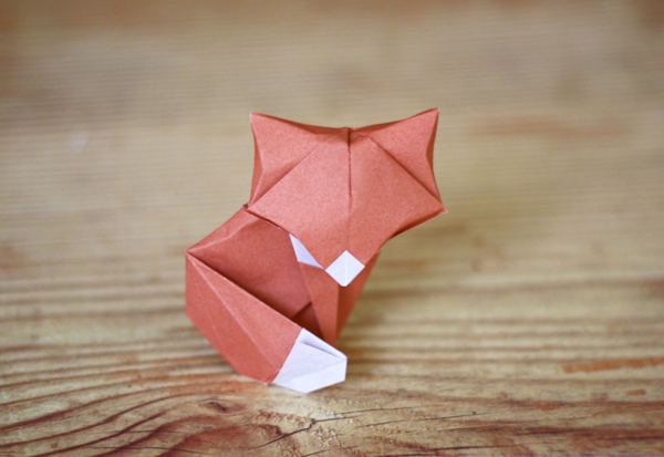 How to make an origami fox face step by step. - YouTube | 413x600