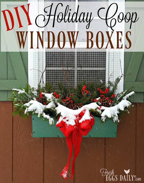 window box forage winter decor diy