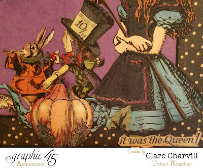 Halloween in Wonderland Scrap Book 1 Clare Charvill Graphic 45