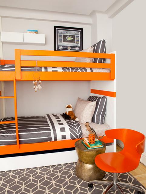 quarto infantil laranja