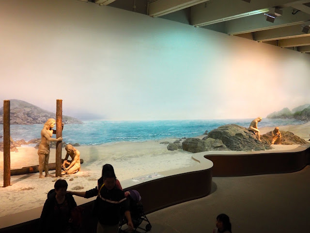 Prehistoric people exhibit in the Hong Kong Museum of History