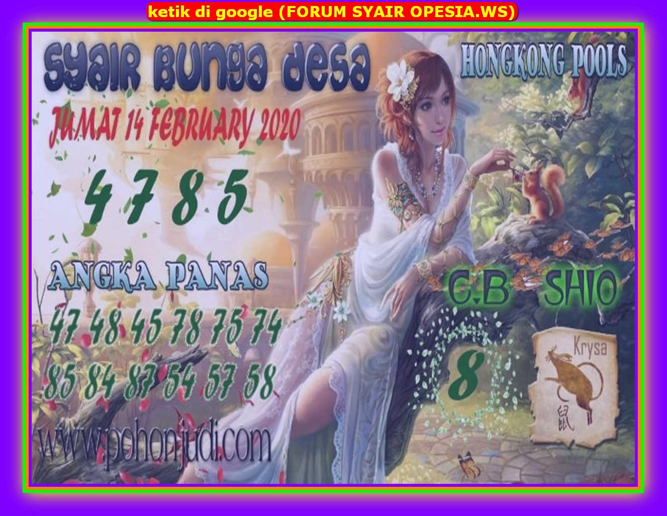Kode syair Hongkong Jumat 14 Februari 2020 139