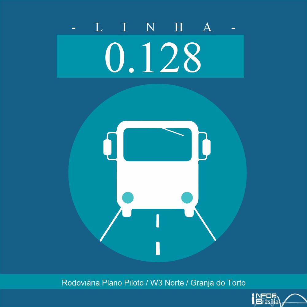 Horário de ônibus e itinerário 0.128 - Rodoviária Plano Piloto / W3 Norte / Granja do Torto