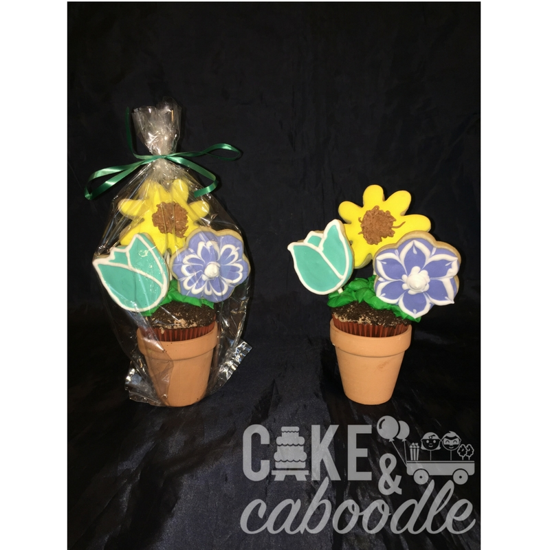 225 & Flower Pot Cupcake and Cookies | Cake and Caboodle