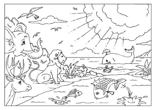Dibujos Cristianos Para Colorear Dibujos De La Creacion Para Colorear