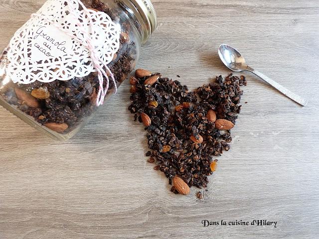 Granola gourmand très chocolat - Dans la cuisine d'Hilary