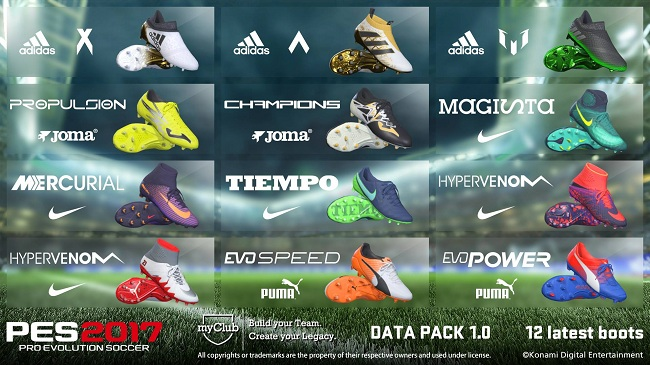 PES 2017 Data Pack 1.0 Boots