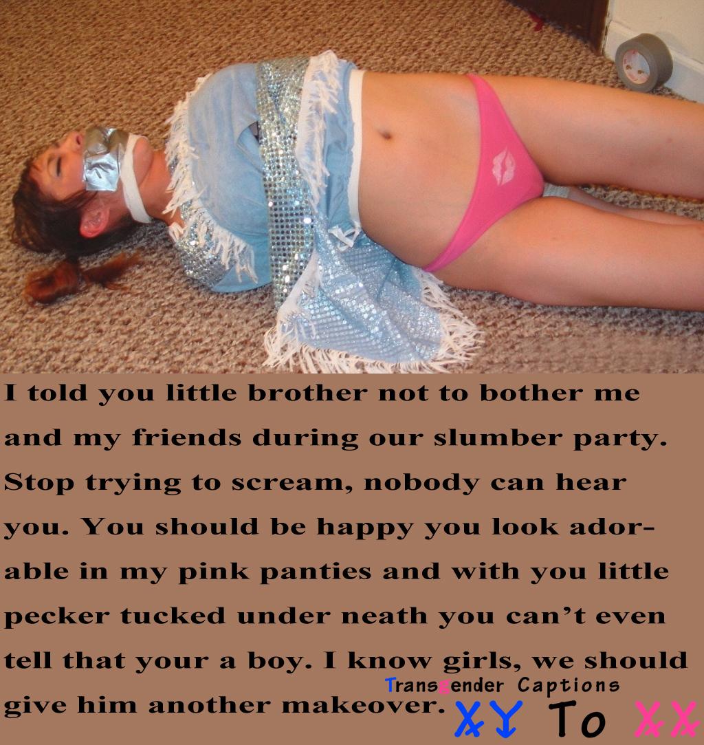 sissy caught captions